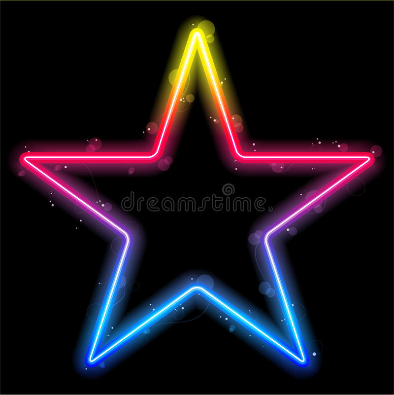 Rainbow Star Border with Sparkles
