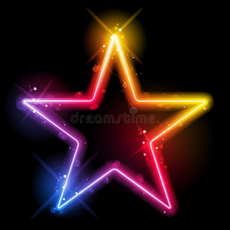 Download Rainbow Star Border With Sparkles And Swirls Royalty Free Stock Photos - Image: 34725218