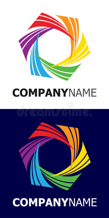 Rainbow Star Logo Element Stock Photo