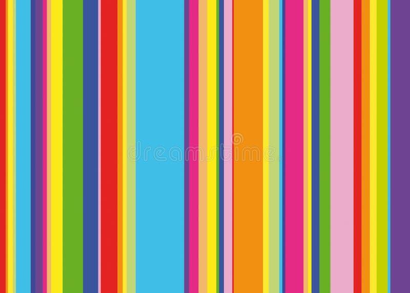 Rainbow stripes. Red orange yellow green blue violet stripes, background vector illustration