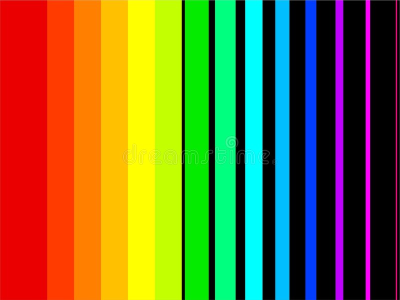 Rainbow stripes stock illustration