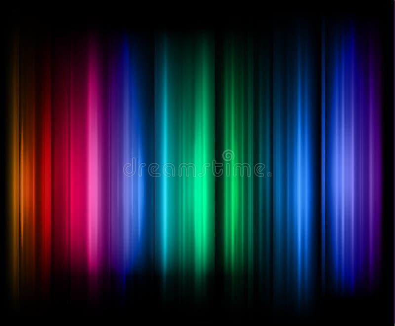 Rainbow stripes abstract background stock illustration