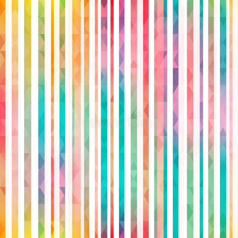 Rainbow stripes seamless pattern stock illustration