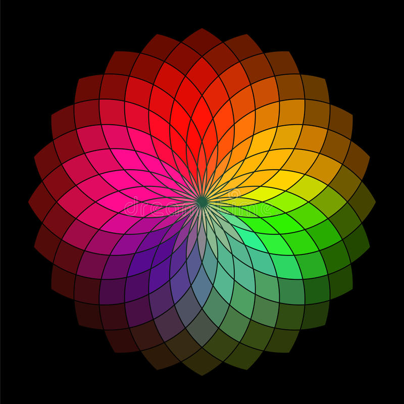 Download Rainbow Style Vector Wheel Stock Illustration Of Petal