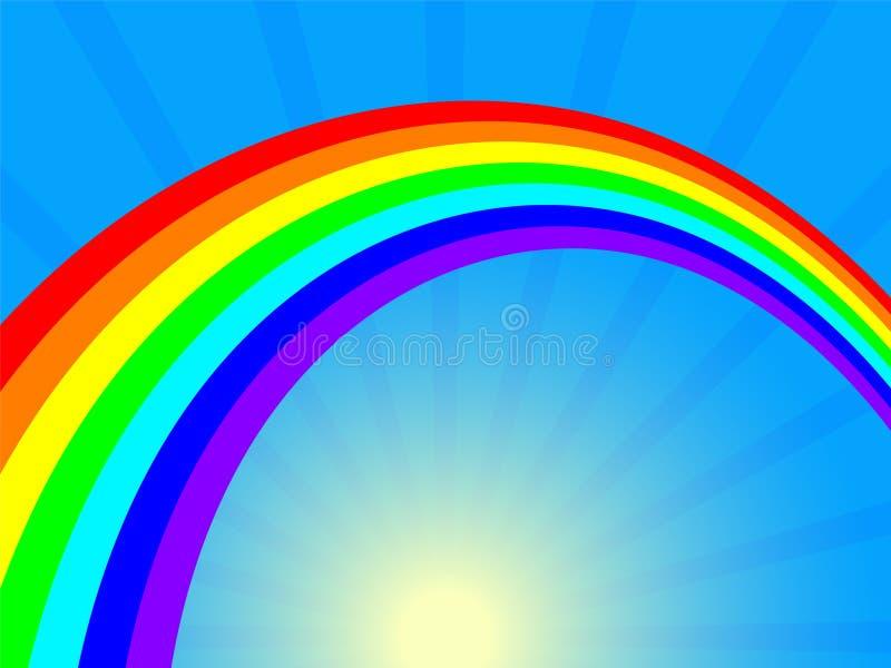 rainbow and sun stock photos