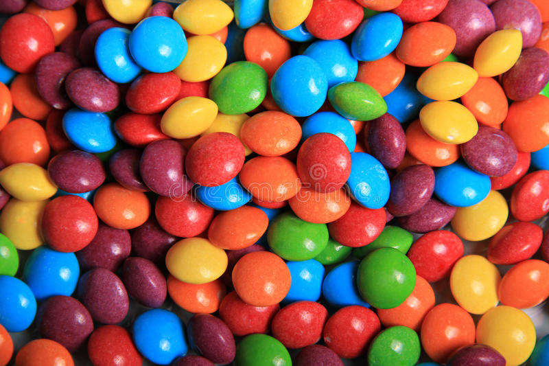 Rainbow Sweets Background Stock Image
