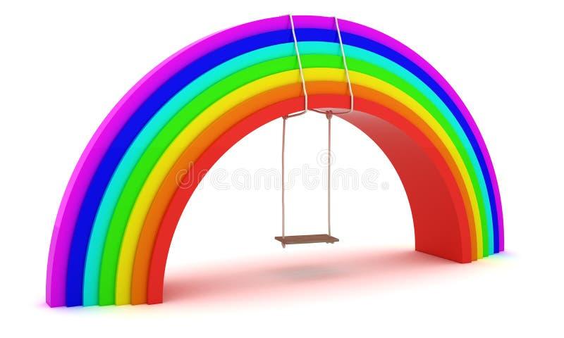 Download Rainbow swing stock illustration. Image of happiness - 18976068
