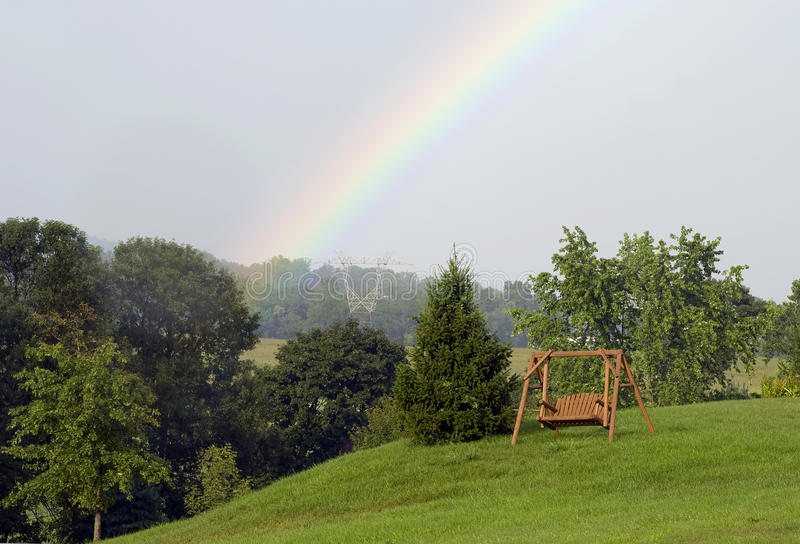 Download Rainbow swing for two stock image. Image of dream, rest - 15715079