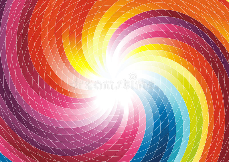 Rainbow swirl - abstract colorful background. Clip-art stock illustration