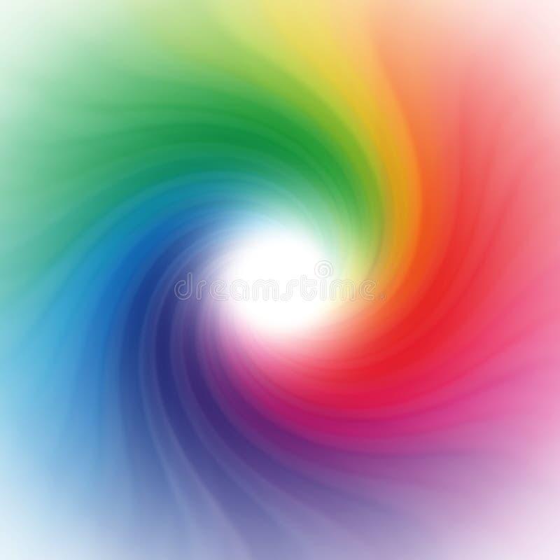 Rainbow swirl background stock photography