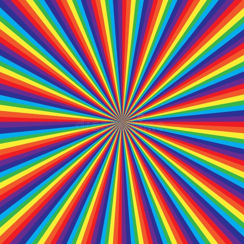 Rainbow swirl pattern, abstract vector art illustration stock illustration