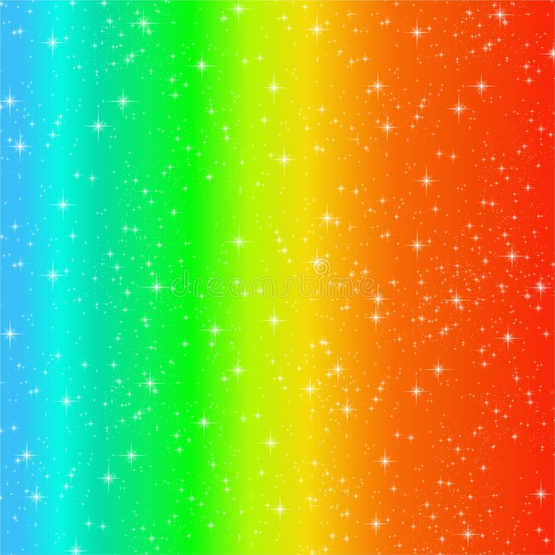 Rainbow Swirl Sparkles Royalty Free Stock Photo