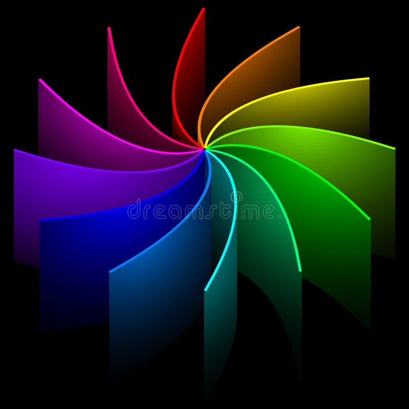 Rainbow swirl vector illustration