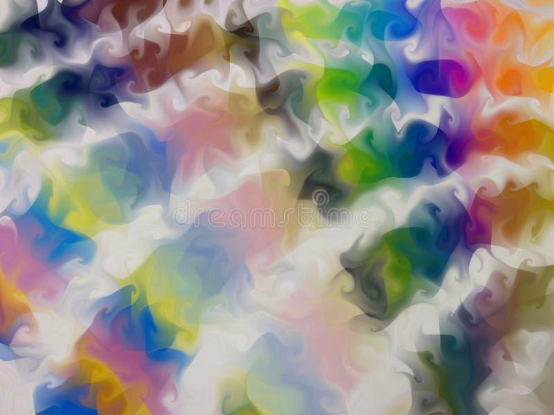 Rainbow Swirly Swatches stock illustration