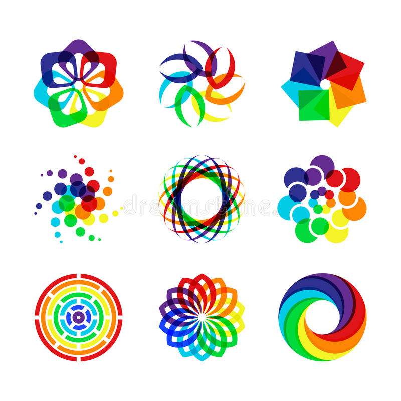 Download Rainbow symbols stock vector. Image of icons, brand, collection - 14350325