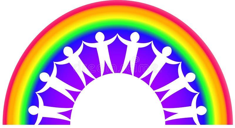 Download Rainbow Teamwork stock illustration. Illustration of diversity - 9037252