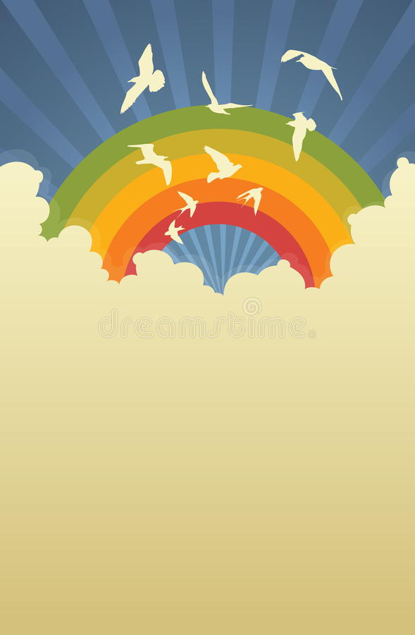 Rainbow Template Royalty Free Stock Photo - Image: 25562125