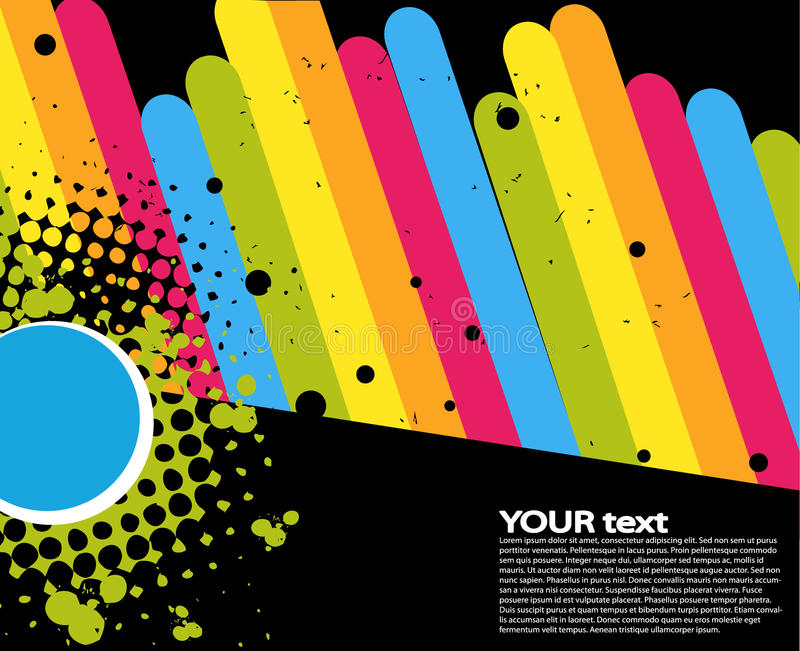 Rainbow text concept stock illustration