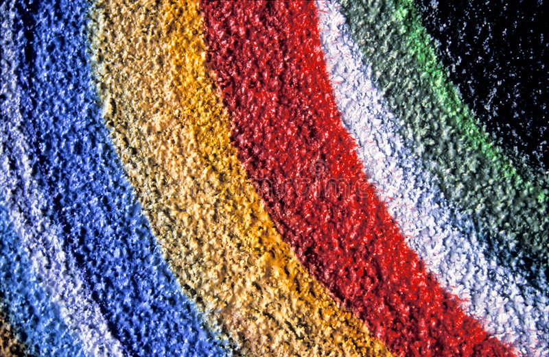Painted rainbow on wall royalty free stock photography
