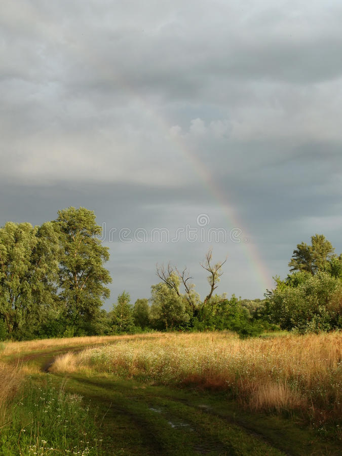 Download Rainbow after thunderstorm stock image. Image of atmosphere - 15109625