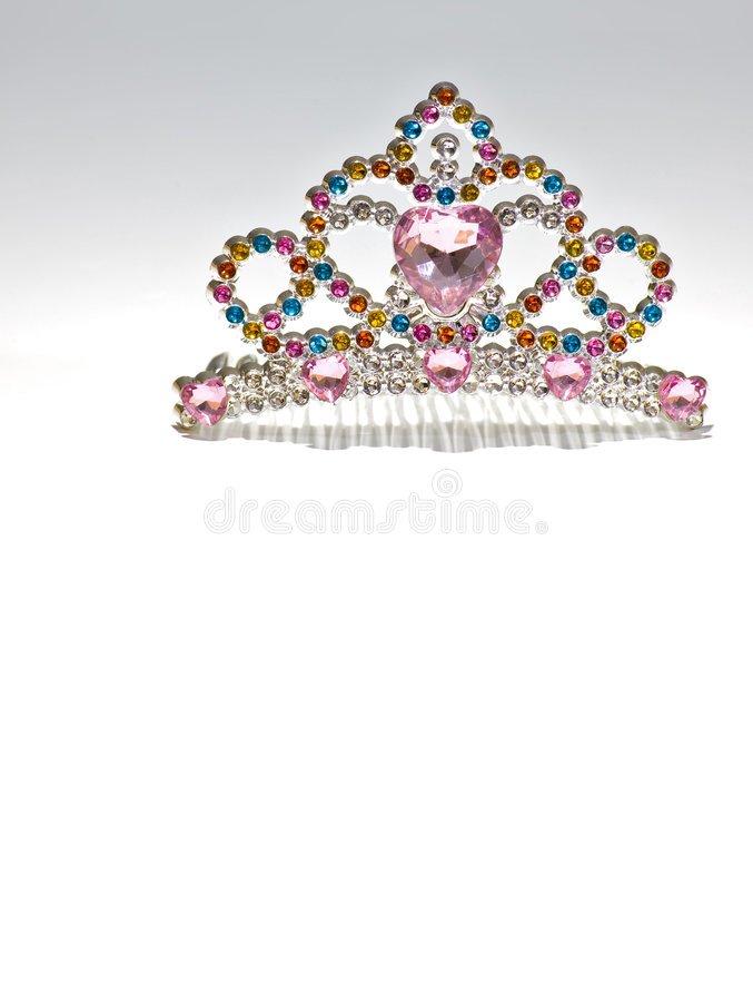 Rainbow Tiara Isolated stock images