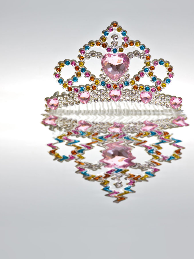 Rainbow Tiara Isolated royalty free stock photography