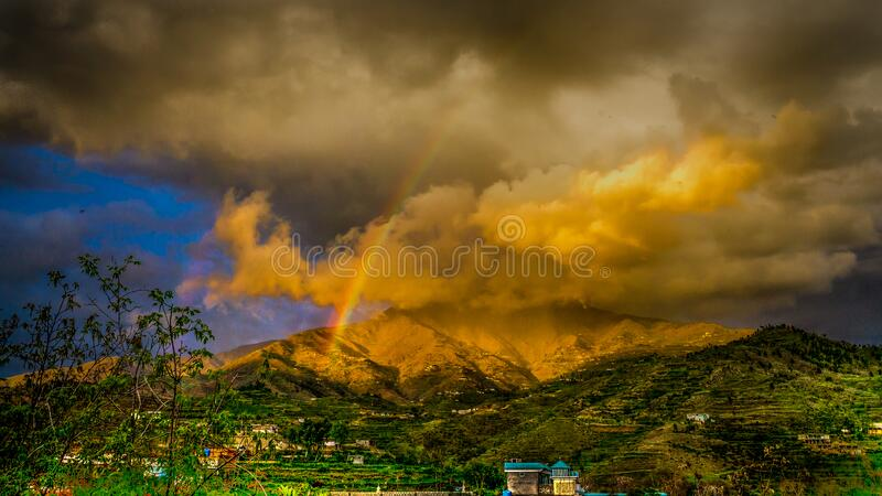 Rainbow On Top Of The Mountain Free Public Domain Cc0 Image