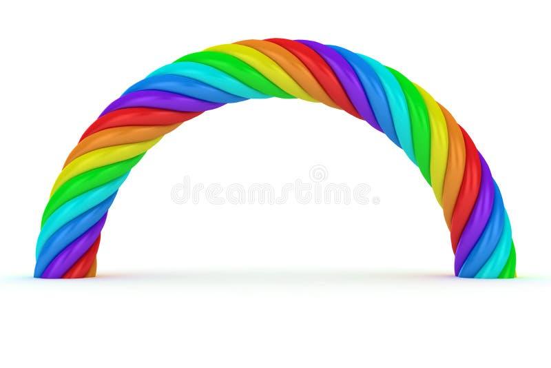 Rainbow torto illustrazione di stock