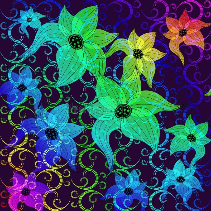 Download Rainbow Transparent Flowers Stock Vector - Image: 21161861