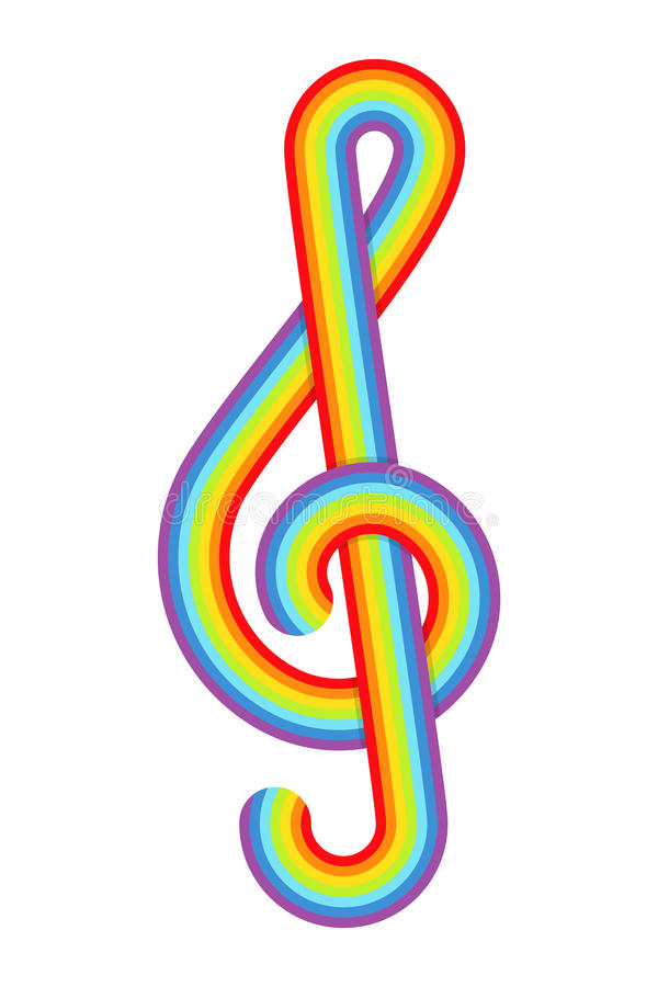 Download Rainbow treble clef stock vector. Image of abstract, elegance - 27634629