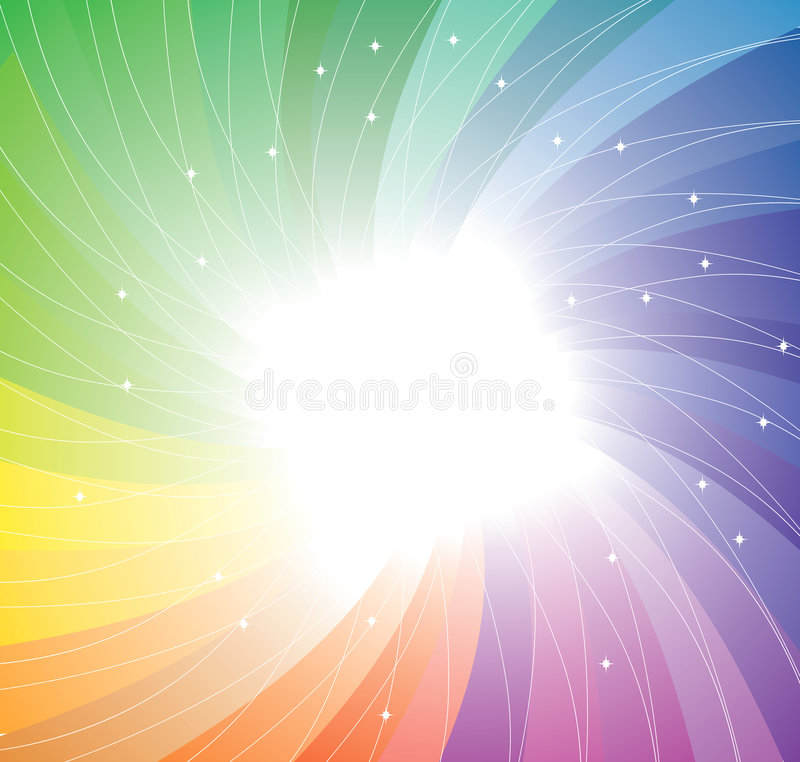 Free Rainbow Twirl Background. Vector Royalty Free Stock Photography - 8766887