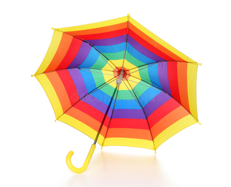 Rainbow Umbrella stock images