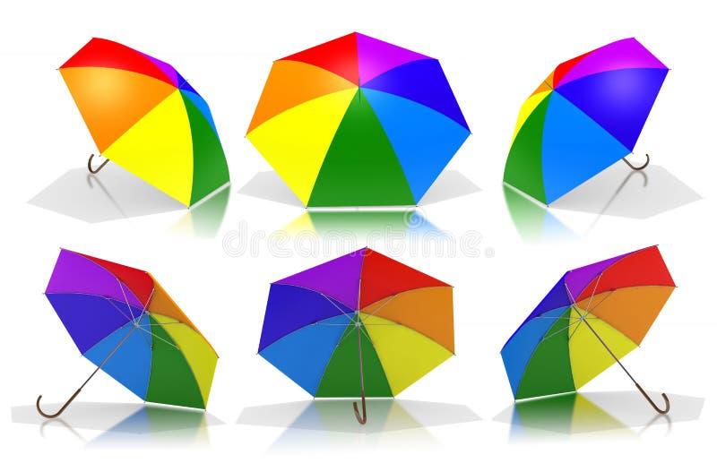 Rainbow umbrellas royalty free stock images