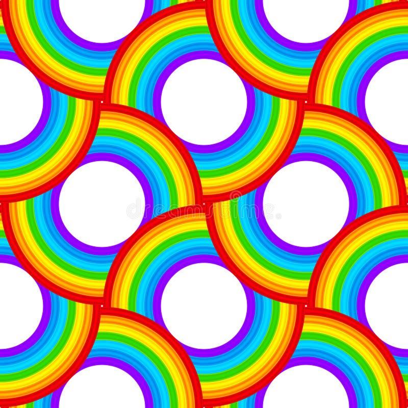 Download Rainbow Vector Circles Seamless Pattern Stock Vector - Illustration: 34403637