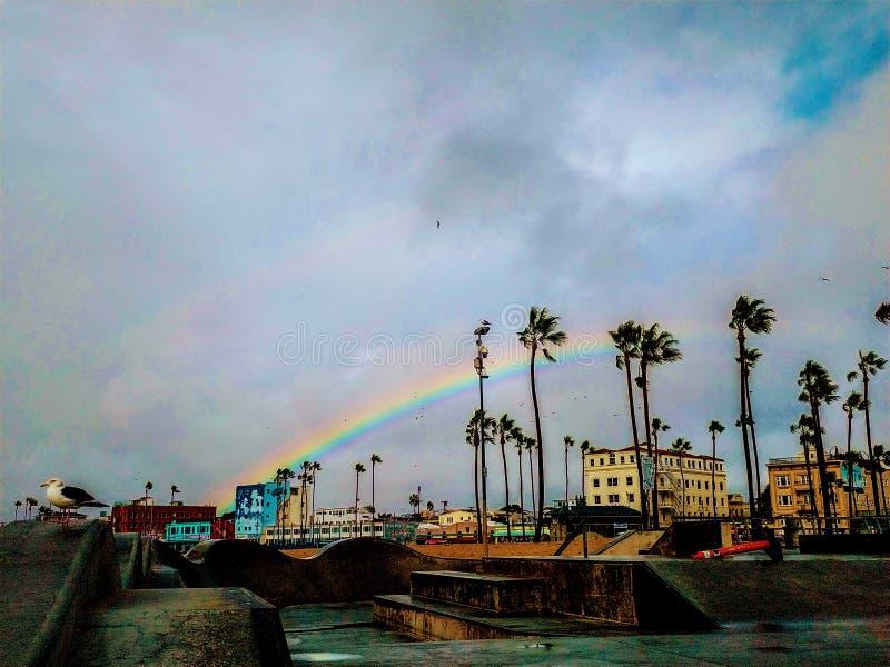 Rainbow Venice Beach California 2020 imágenes de archivo libres de regalías
