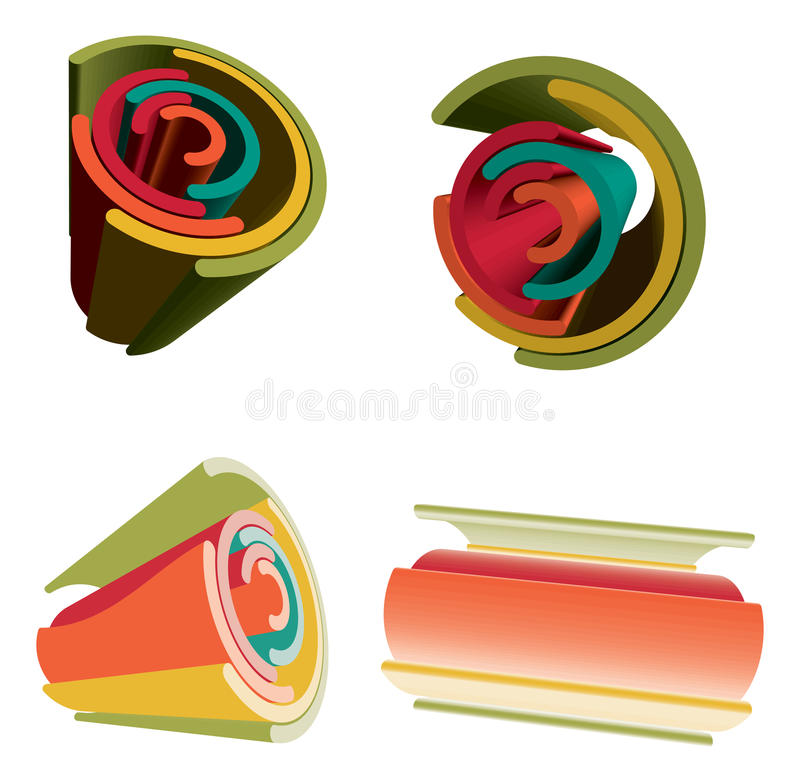 Rainbow vibrante futuristico astratto di colore 3D. royalty illustrazione gratis