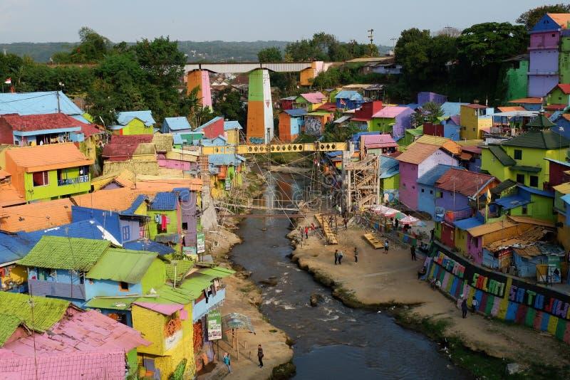 Rainbow Village stock photo