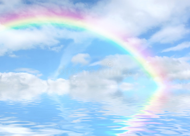 Rainbow Vista royalty free illustration