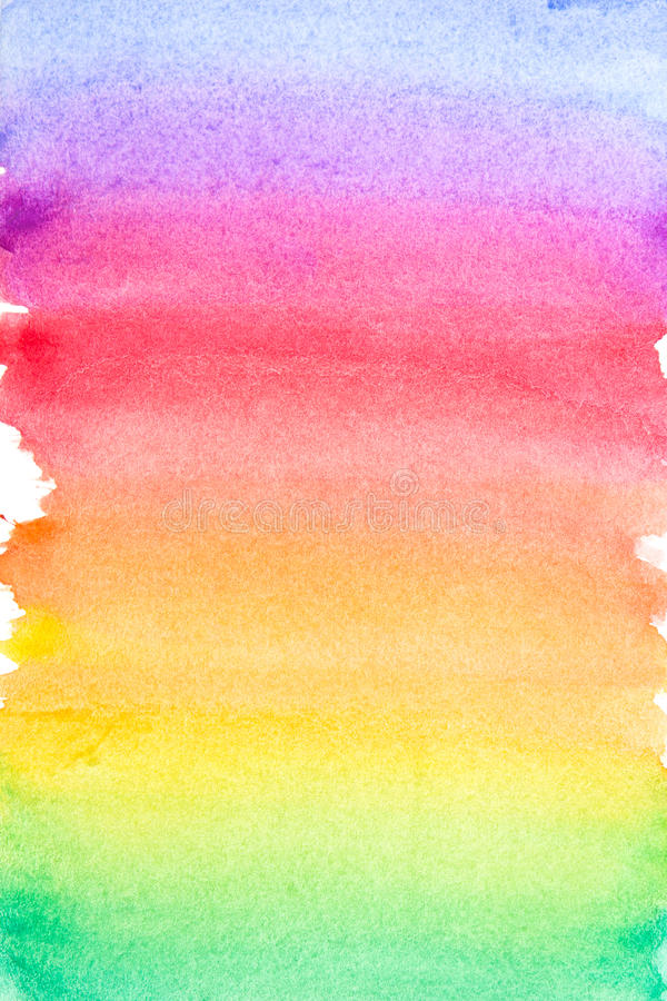 Rainbow vivid watercolor background stock photography