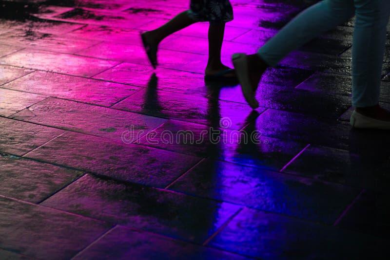 Rainbow Walk I stock images