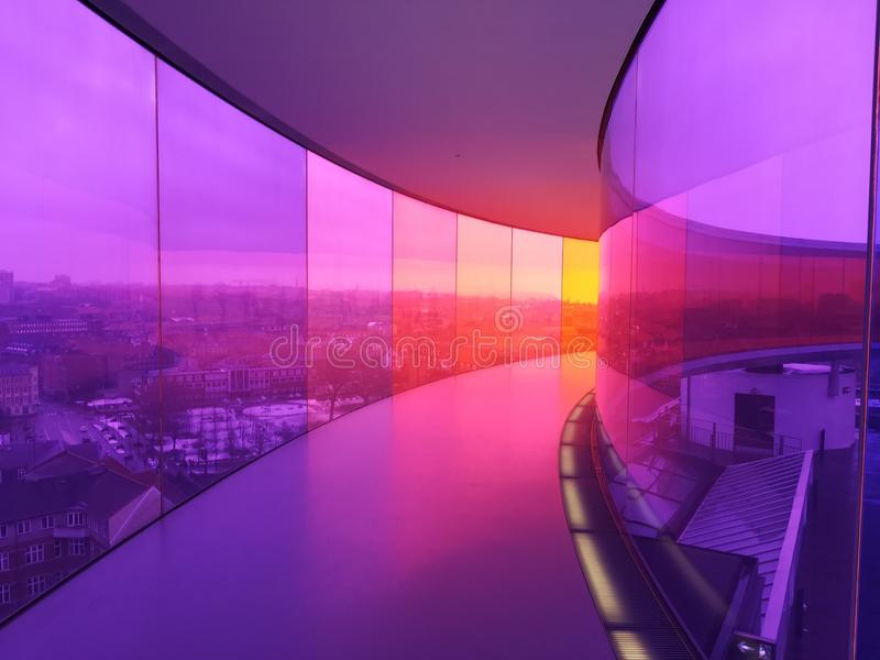 Rainbow Walk in Aarhus royalty free stock photos