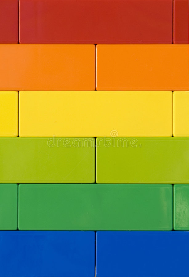 Rainbow wall. A close up of a wall with rainbow colors royalty free stock photography