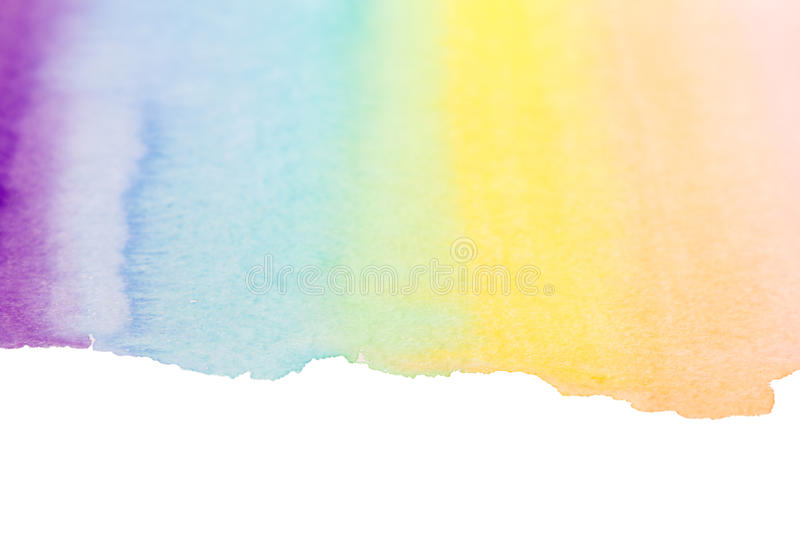 Rainbow watercolor art background royalty free stock photos