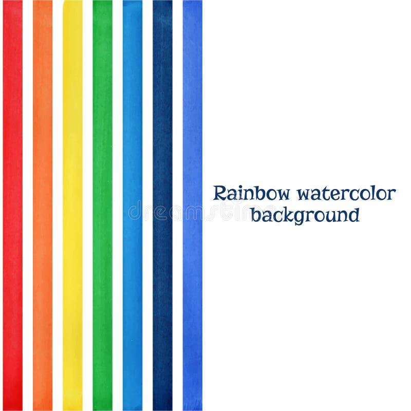Rainbow watercolor artistic background vector stock illustration
