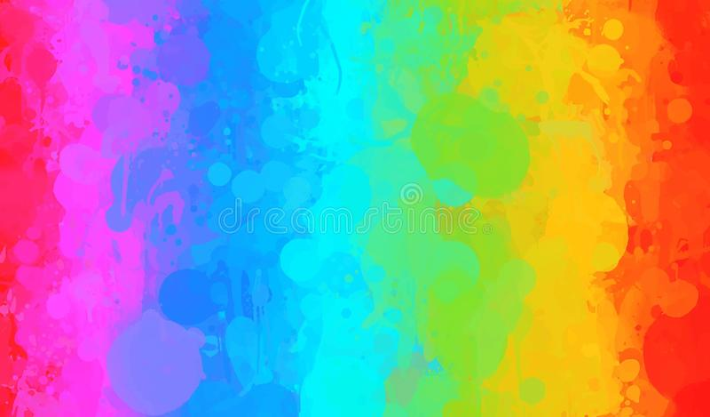 Rainbow watercolor brush strokes background. Vector version vector illustration