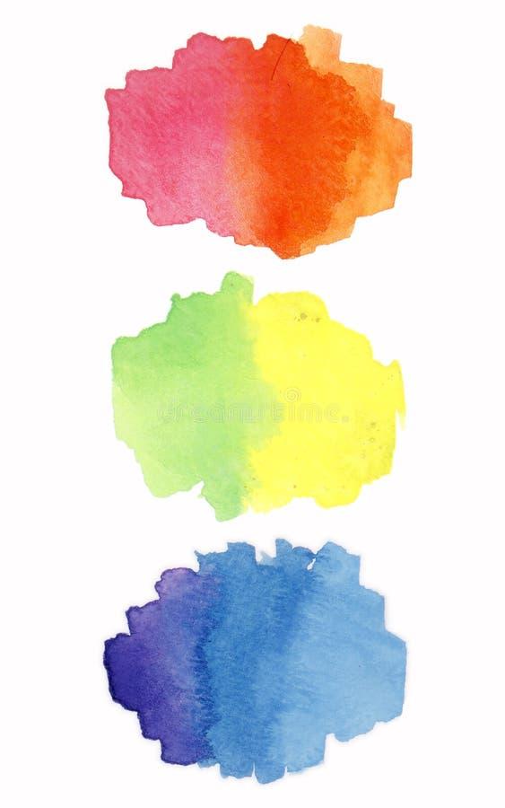 Rainbow watercolor paint stripe vector illustration