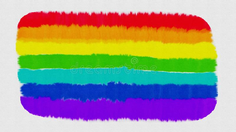 Rainbow watercolor stain on white background royalty free stock photography