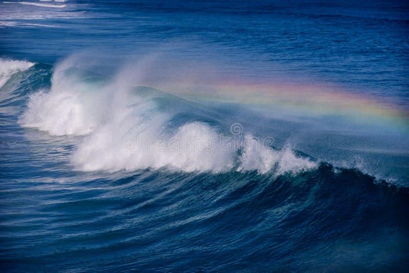 Download Rainbow wave stock photo. Image of atlantic, horizontal - 9077600