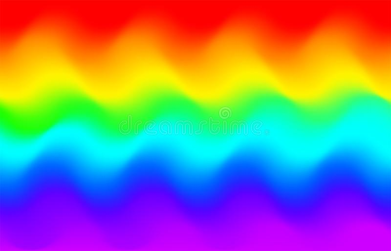 Rainbow wave background. Mermaid Unicorn galaxy pattern. stock illustration