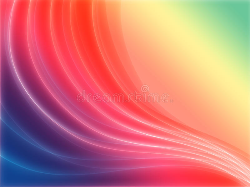 Download Rainbow waves stock illustration. Illustration of line - 15557014